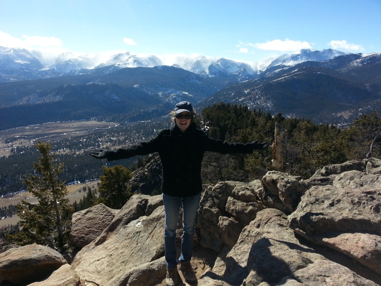 At the top of Deer Mountain