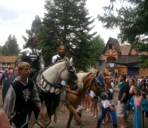 The knights in the royalty parade