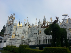 Moose in front of it's a small world!