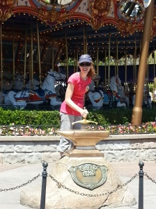 Trying to pull up the Sword in the Stone