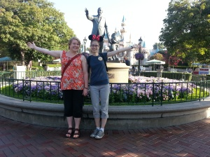 Elisabeth and me in front of Mr. Disney and Mickey