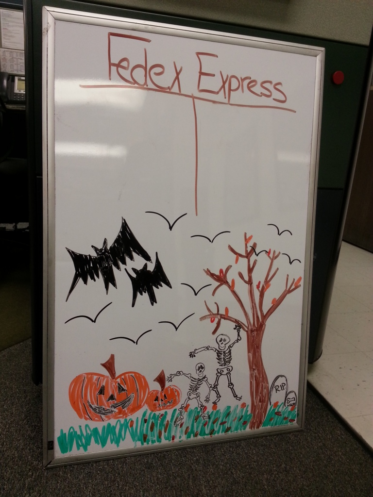 FedEx Halloween board