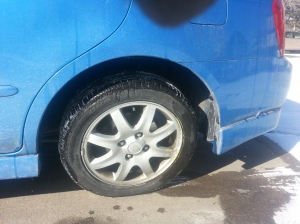 You may not be able to tell the extent of the damage, but it didn't look good!