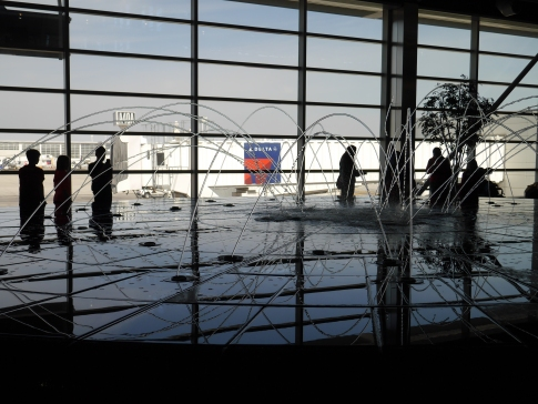 Fountain at Detroit Airport