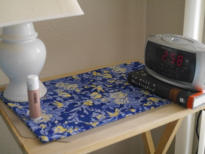 New place mat for my bedside tables.