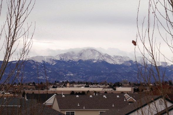 A view of Pike's Peak from the kitchen window. How nice is that?!
