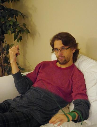 Gene in his natural model-self.