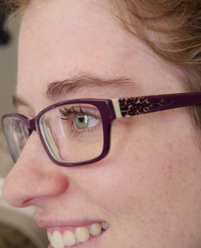 Side view of new glasses. Even the sides are fun!