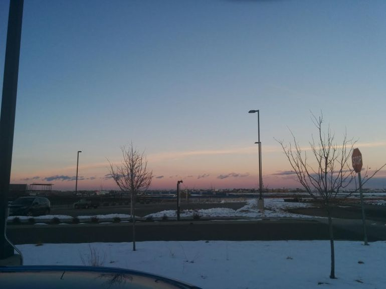 016 sunset at work